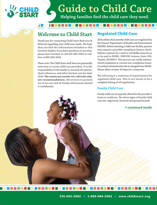 Child Start Brochure for Parents