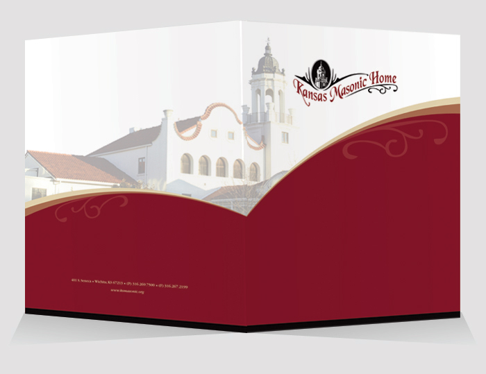Specialized Folder for Kansas Masonic Home, a retirement community with assisted living and memory care