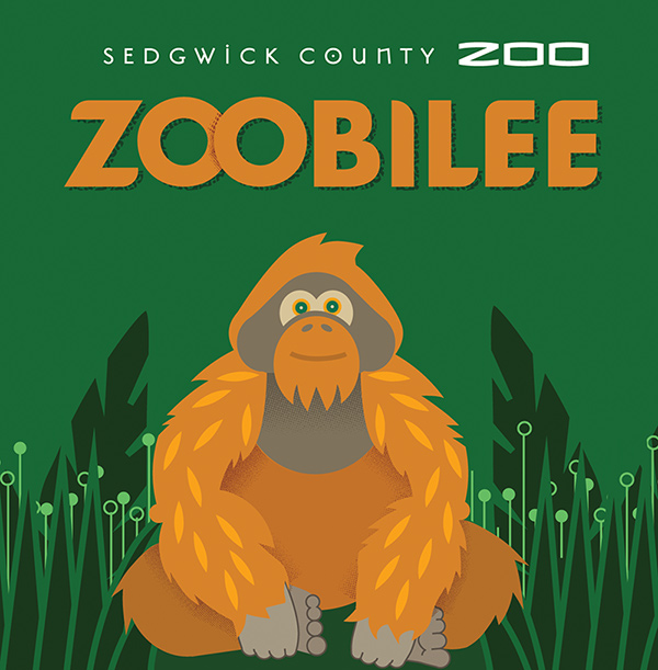 Zoobilee Artwork with Orangutan