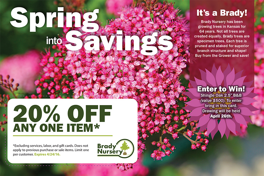 Newspaper ad for Brady in Garden Section, we can find the perfect media to purchase for your clientele