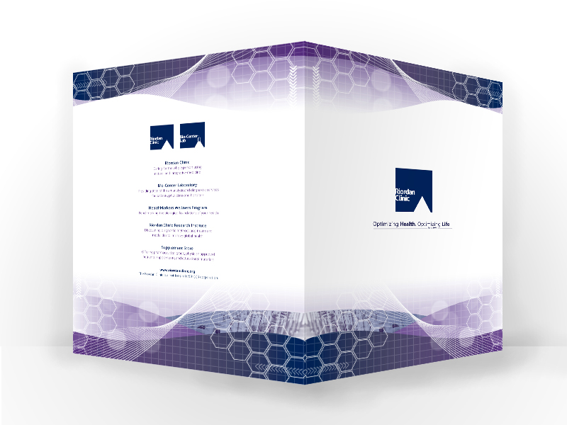 Folder for Riordan Clinic. Custom 2 Color Design. You can dream it, we can create it for you
