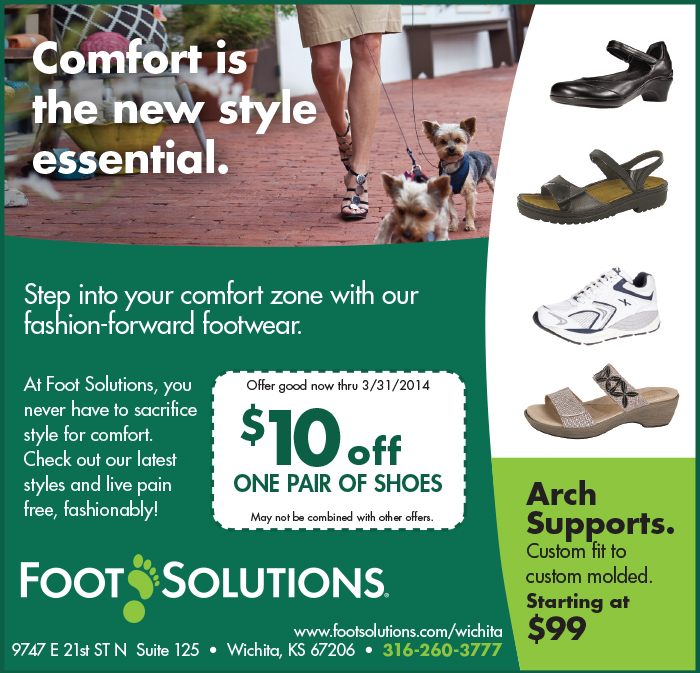 Advertisement promoting orthopedic footwear
