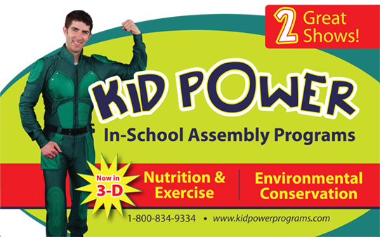 Kid Power folded direct mail brochure