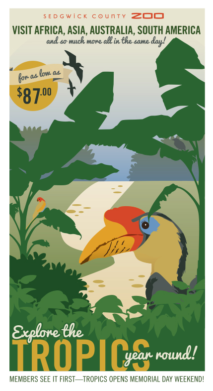 Postcard designed with a vintage flair of old travel posters.